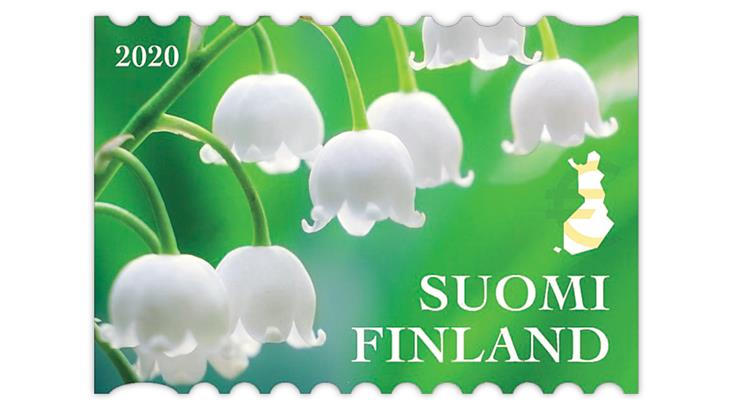 finland-2020-lily-valley-stamp