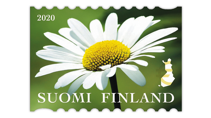 finland-2020-wildflowers-daisy-coil-stamp
