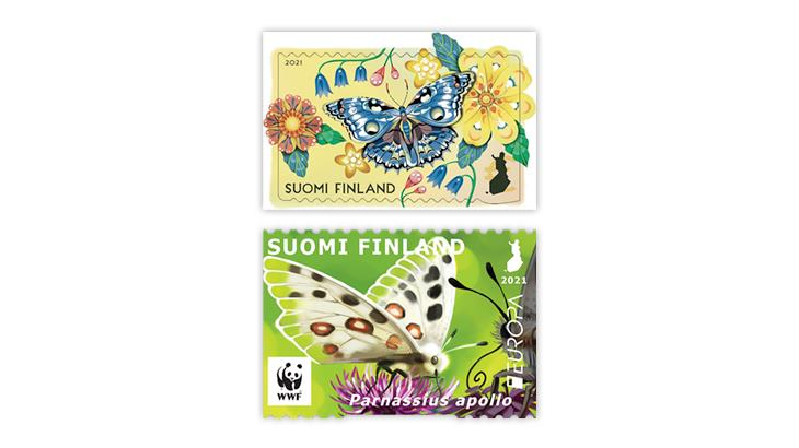 finland-2021-butterfly-stamps
