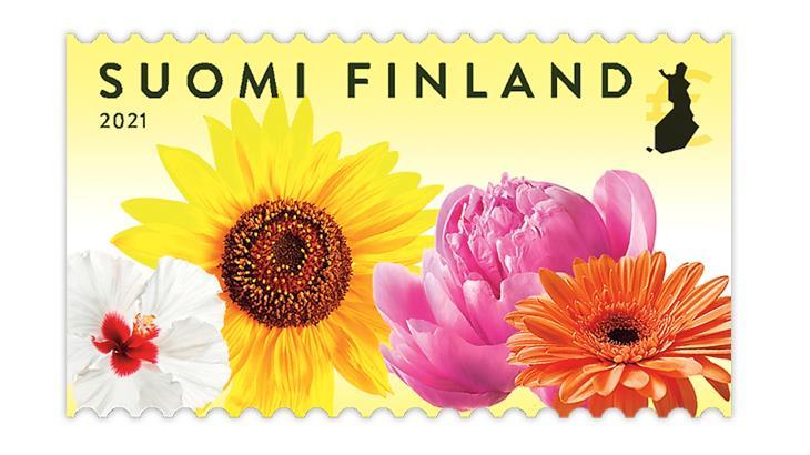 finland-2021-flower-garden-stamp