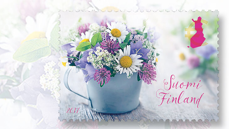 finland-summer-flowers-stamp