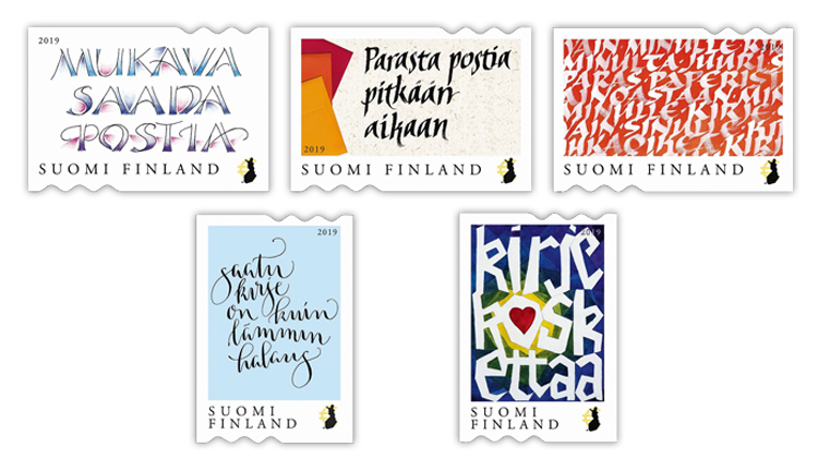 finland-touching-letter-calligraphy-contest-stamps