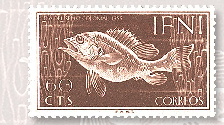 first-colonial-stamp-day-ifni-issue