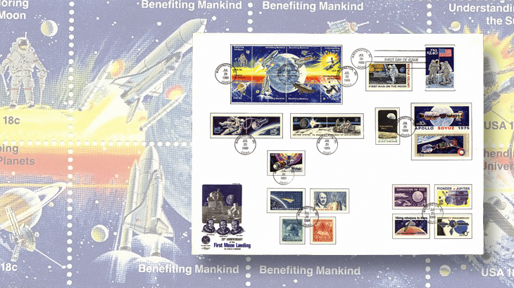first-day-covers-artmaster-1989-moon-landing-anniversary