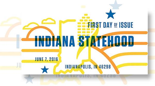 first-day-postmark-indiana-statehood-forever-stamp
