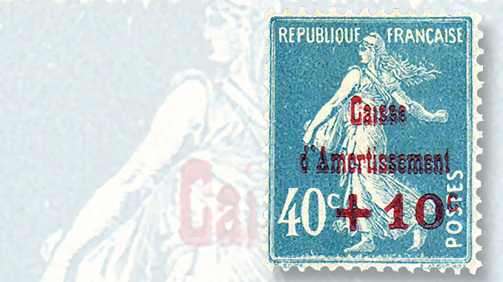 first-france-sinking-fund-semipostal-stamp