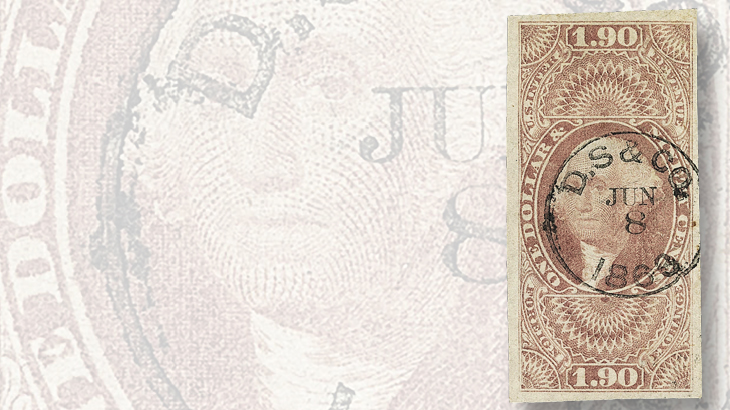 first-issue-dollar-ninety-cent-foreign-exchange-stamp