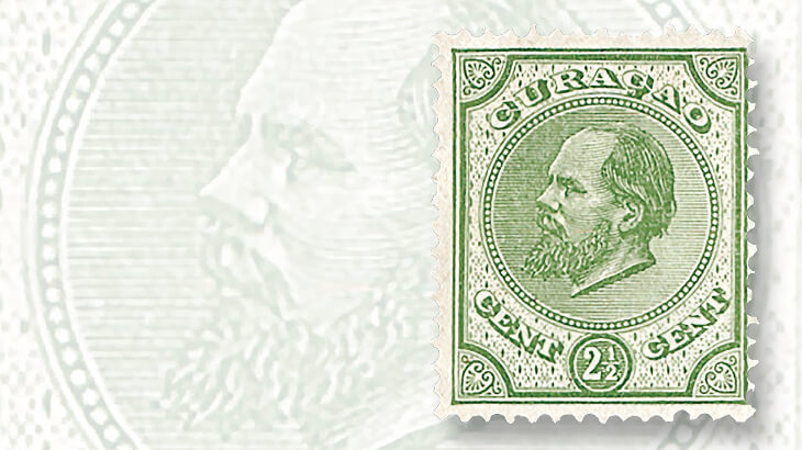 first-stamp-dutch-colony-curacao