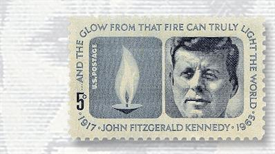 five-cent-john-f-kennedy-eternal-flame-stamp