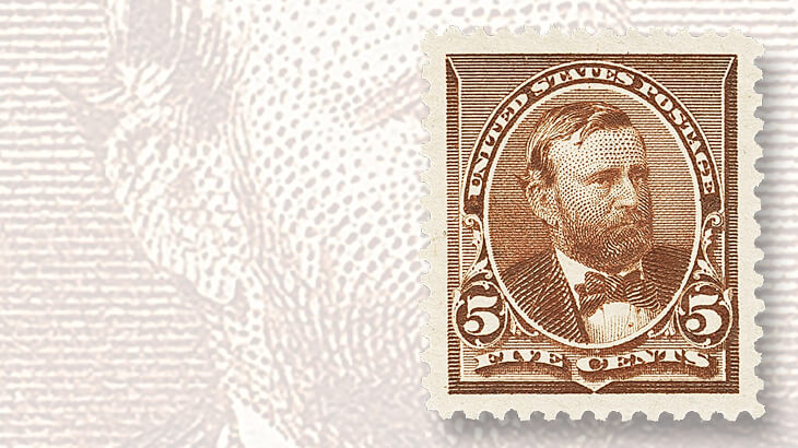 five-cent-ulysses-s-grant-stamp-graded-100-jumbo