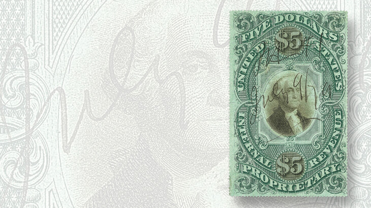 five-dollar-proprietary-stamp-green-paper