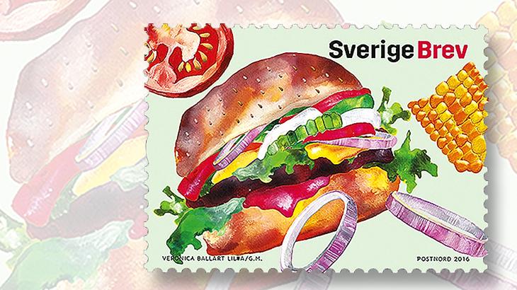 food-cultures-stamps-sweden-hamburger