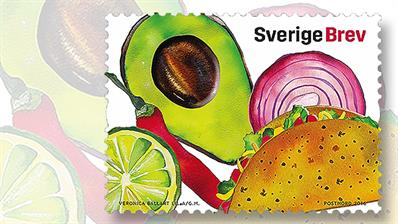 food-cultures-stamps-sweden-mexico-taco