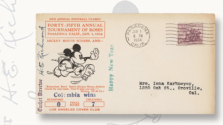 football-cachet-depicting-mickey-mouse