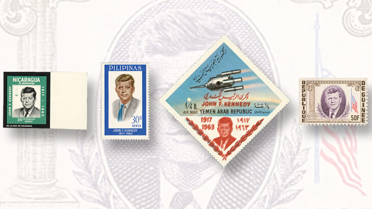 foreign-stamps-honoring-president-john-f-kennedy