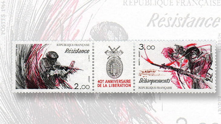 fortieth-anniversary-france-liberation-stamps