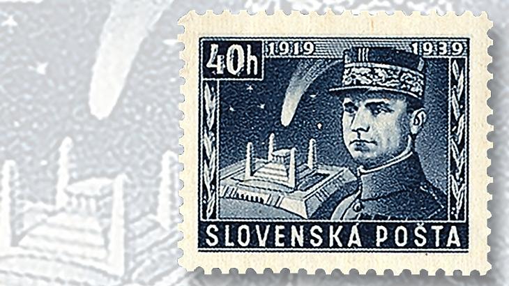 forty-h-general-stefanik-tomb-stamp
