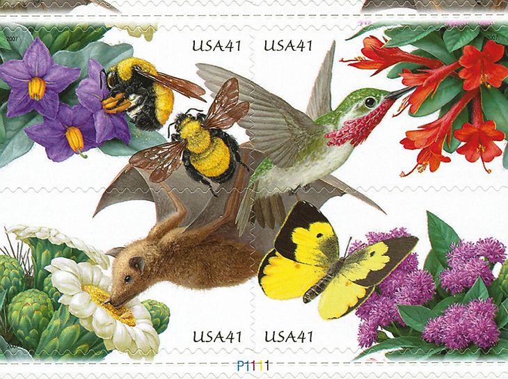four-41-cent-pollination-cycle-stamps