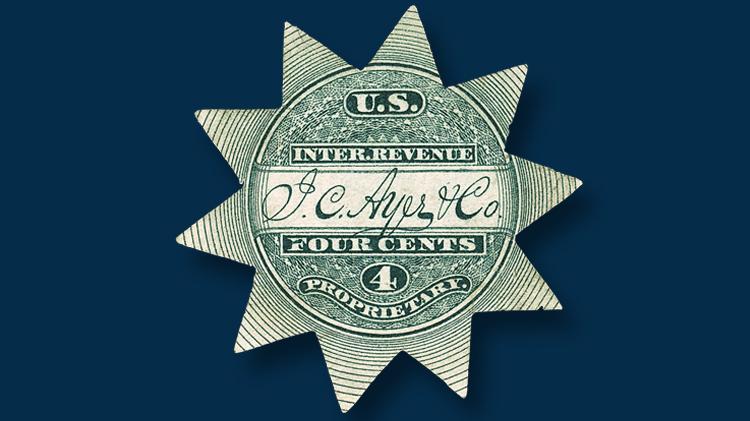 four-cent-j-c-ayer-company-medicine-stamp