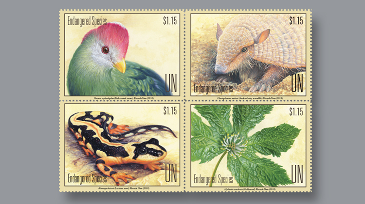 four-one-dollar-endangered-species-stamps