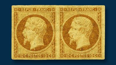 france-1852-10-centime-president-louis-napoleon-stamp