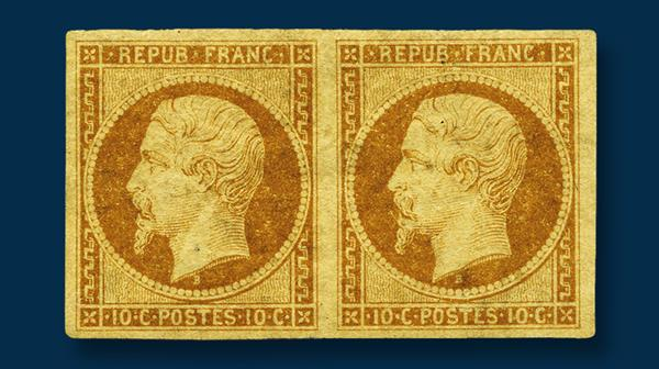 france-1852-10-centime-president-louis-napoleon-stamp
