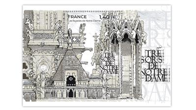 france-2020-treasures-notre-dame-cathedral-souvenir-sheet