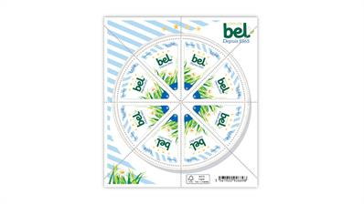 france-2021-bel-group-laughing-cow-cheese-stamp-pane