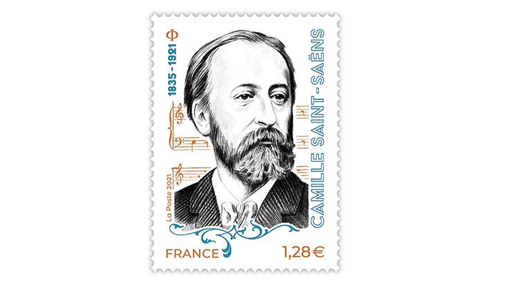 france-2021-camille-saint-saens-100th-death-anniversary-stamp