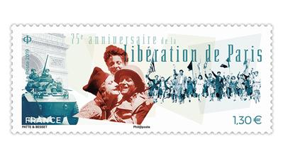 france-75th-anniversary-liberation-of-paris-stamp