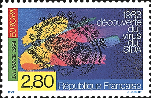 france-aids-pasteur-institute-stamp-1994