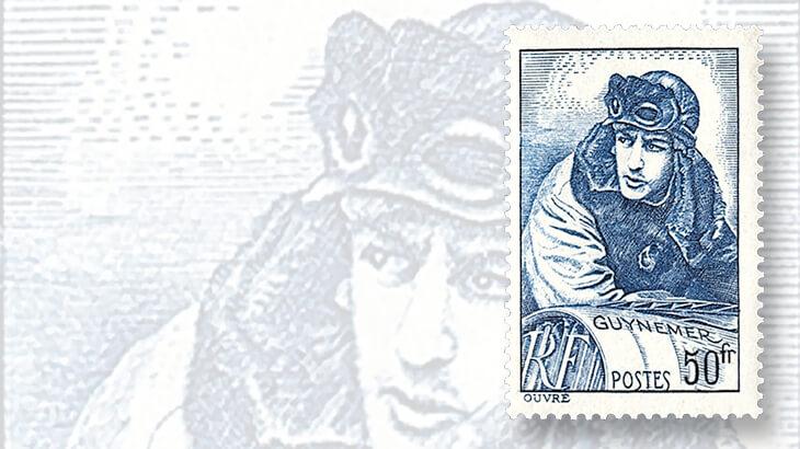 france-aviator-hero-georges-guynemer-stamp