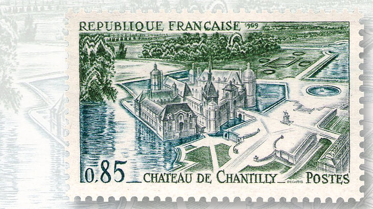 france-chateau-de-chantilly-stamp