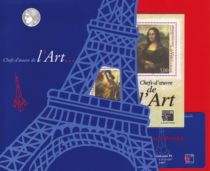 france-eiffel-1999-philexfrance-exhibition-folder-art-masterpieces
