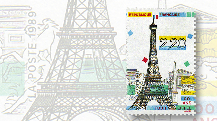 france-eiffel-tower-1989-commemorative-stamp-100th-anniversary