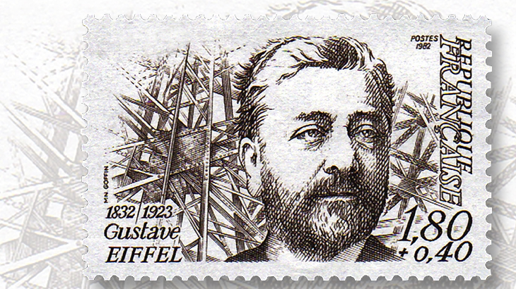 Gustave Eiffel commemorative stamp