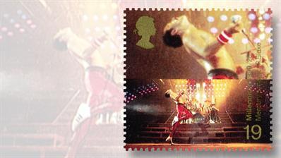 freddie-mercury-rock-band-queen-great-britain-millennium-stamp