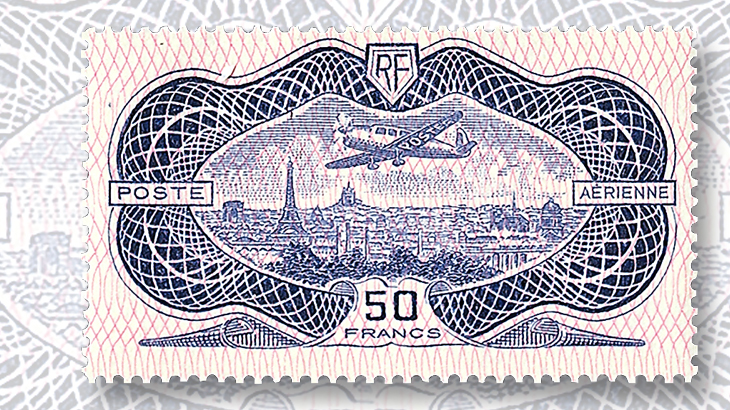 french-1936-50-franc-airmail-issue