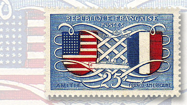 french-american-friendship-stamp