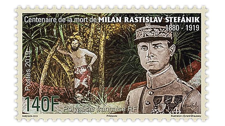 french-polynesia-astronomer-milan-rastislav-stefanik-stamp