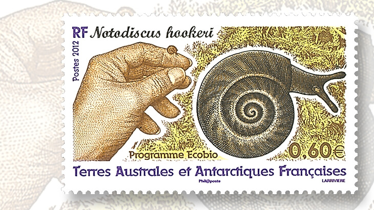 french-southern-and-antarctic-territories-2012-snail-stamp