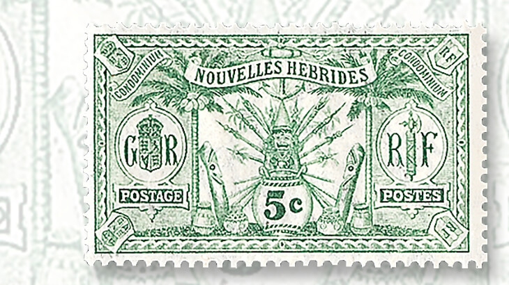 french-wording-native-idols-new-hebrides-stamp