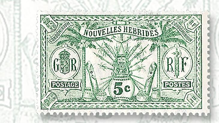 french-wording-native-idols-new-hebrides-stamp