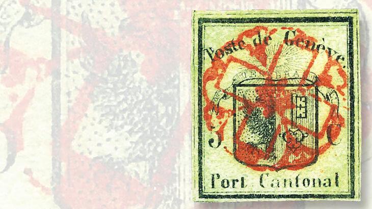 geneva-five-centime-stamp