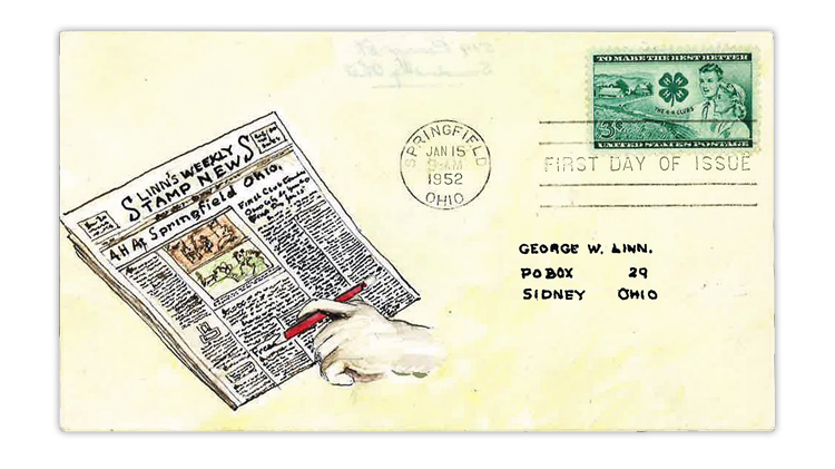 george-linn-1952-4h-clubs-first-day-cover