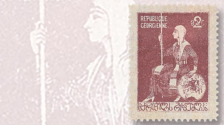 georgia-2-ruble-stamp