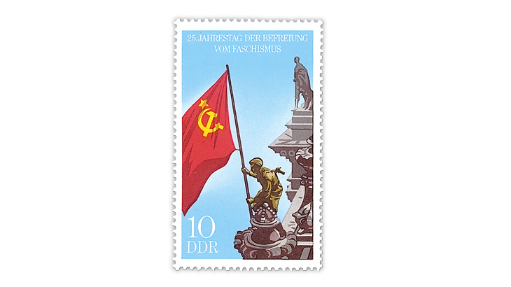 german-democratic-republic-red-army-solider-soviet-flag-stamp