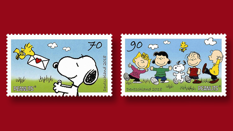 Germanys Stamp Tribute To Peanuts Comic