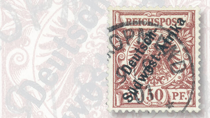 german-southwest-africa-1897-50-pfennig-overprint-stamp