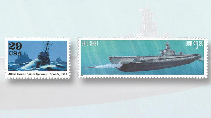 german-u-boat-us-submarine-stamps